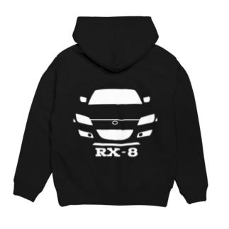 RX-8プルパーカー(白) Hoodies