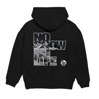 SKI NUT OFFICIAL SHOPのNO SNOW NO LIFE ロゴ Hoodies