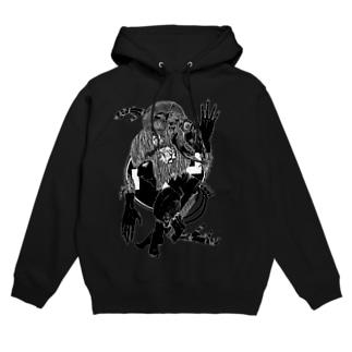正義(黒) Hoodies