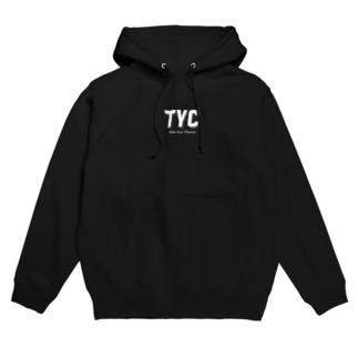 TYCスポーティーロゴ白 Hoodies