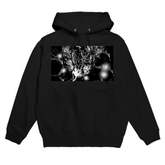 SKY CHOPのBlack drawing Hoodies