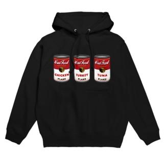 ネコ缶トリプル フーディ