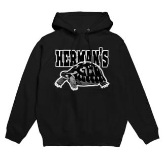 ヘルマンさん白黒 Hoodies