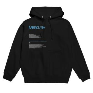 MERCURY 白字 Hoodies