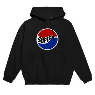 SUPER UPPER丸ロゴ Hoodies
