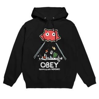 めんだこちゃん OBEY (濃色用) Hoodies