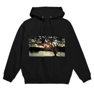 raviaの夕陽と桜 Hoodies