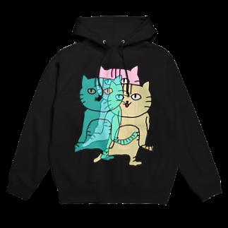 Sizimi_Kusodasaの猫3 Hoodies