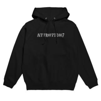 ATTENTION! ロゴパーカー(白字)【ATTENTION!】 Hoodies