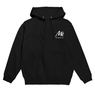 MESARION+ロゴ 文字切り抜きVer(ホワイト) Hoodies