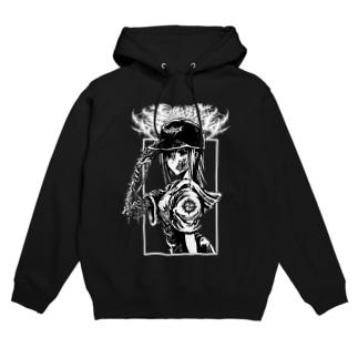 GORE-GIRL4(MONO BLACK) Hoodies