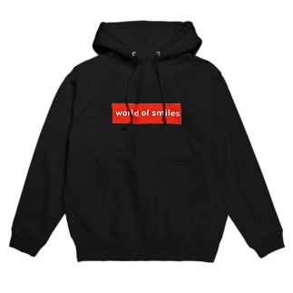World of smiles 赤ロゴ Hoodie