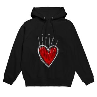banned heart Hoodies