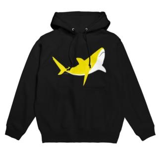 三日月サメ 〜黄蘗 kihada 〜〈 濃いめの色味をお選びください 〉 Hoodies