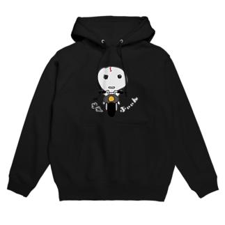ぶぃぃんパーカー(白文字) Hoodies