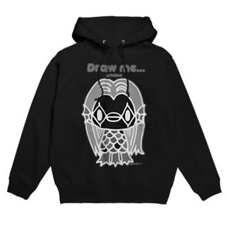 【各5点限定】アマビエさま(nega/mono) Hoodies