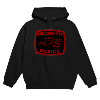 Shindo Of The DayのHECHO EN MEXICO RED Hoodies