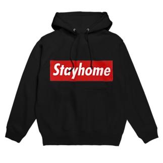 Stayhome BOXロゴシリーズ Hoodies