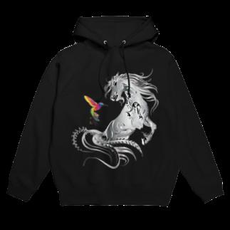 Drecome_Designの馬とハチドリ Hoodies