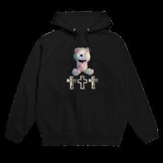 💜Salon de Lucia💜のPeek-a-boo CROSS Teddy Rainbow Hoodies