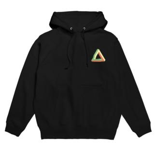 三角形 Hoodies