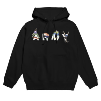 SKATER [ARMY] Hoodies