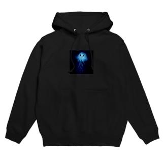 Blue jellyfish Hoodies