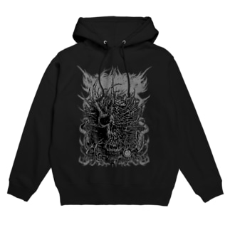 Brutal Skull(gray) Hoodies