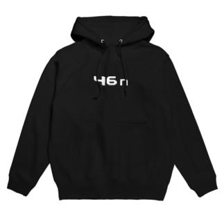46n (白ロゴ) Hoodies