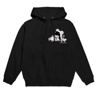 シロクマパレッド(白縁取り) Hoodies