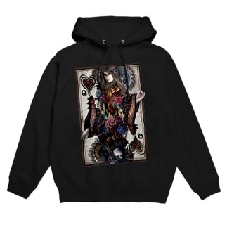 Queen Of Black Heart Hoodies