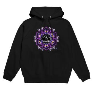 くろねこtwins紫 Hoodies