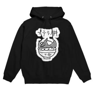 プテラノ丼(白縁取り大きめプリント) Hoodies