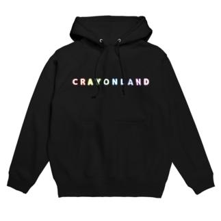 CRAYON LANDのロゴ Hoodies
