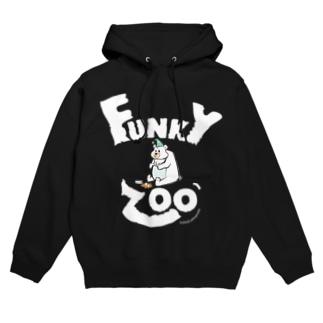シロクマ 〜FUNKY ZOO〜 Hoodies