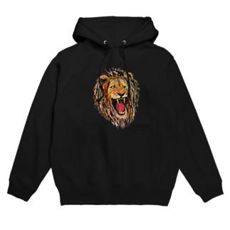 ライオン Hoodies