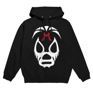 MIL MASC ARAS MASK-ミル・マスカラスマスク 白ロゴ Hoodies