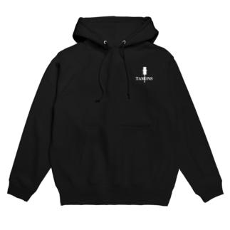 タモンズ雑貨の【 タモンズ 】38ロゴ(白) Hoodie