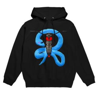 蛍と蛇(色違い) Hoodies