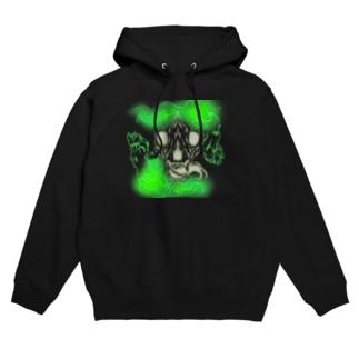 骨狼Green Hoodies