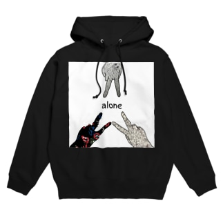 alone Hoodies
