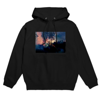 forest fire Hoodies