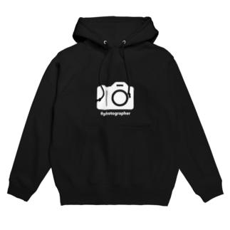 photographer(白文字) Hoodies