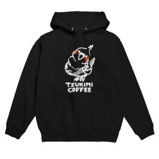 TSUKIMI COFFEE(白) Hoodies