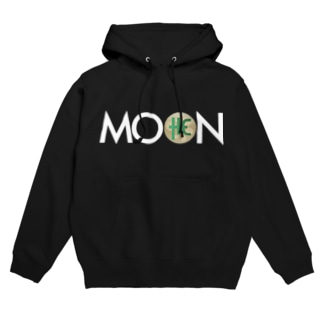 MOON THC whitefont Hoodies