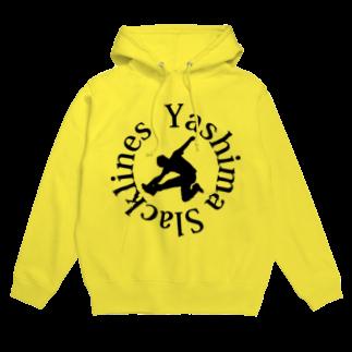 YASHIMA-SLACKLINESのYSロゴ-ブラックフーディ