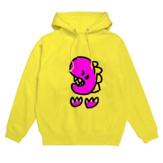 ピンク怪獣 Hoodies