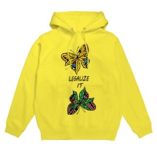 AKRstyle - butterfly × marijuana Hoodies