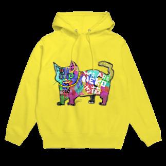 ZENART(ゼンアート)のカラフルな猫 そうカラネコ Hoodies