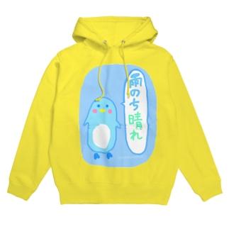 雨のち晴れ ペンギン Hoodies